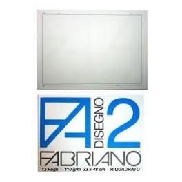 BLOCCO FABRIANO F 2  33 X 48 SQUADRATO