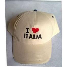 CAPPELLO  I LOVE ITALIA RICAMATO