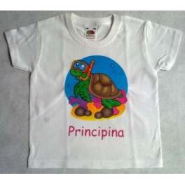 Maglietta  con tartaruga mare