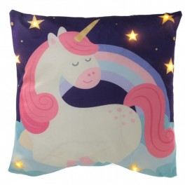 UNICORNO CUSCINO CON LUCI LED